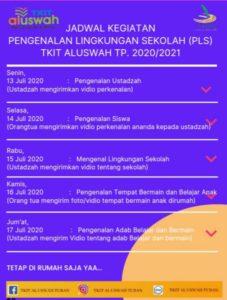 flyer jadwal MPLS TKIT Al Uswah Tuban (Sumber: Humas/2020)