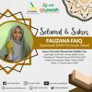 Flyer resmi dari LPIT Al Uswah, Fauzana Faiq (Sumber: MC/2020)