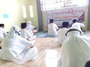 Peserta munaqosyah SDIT Al Uswah Tuban (Foto: Fitri/2020)