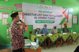 Acara pelantikan Direktur LPIT dan Kepala SMPIT Al Uswah Tuban (Foto: Admin/2020)