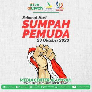 Flyer resmi Hari Sumpah Pemuda LPIT Al Uswah Tuban (Sumber: MC/2020)