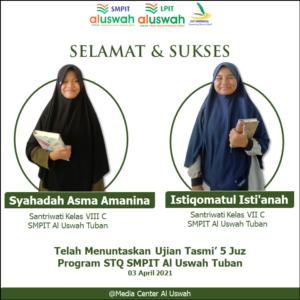Flyer dari SMPIT Al Uswah Tuban (Sumber: MC/2021)