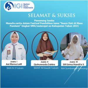 Flyer resmi IGI Kab. Tuban (Sumber: IGI/2021)