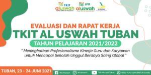 Banner rapat kerja TKIT Al Uswah Tuban (Sumber: Humas/2021)