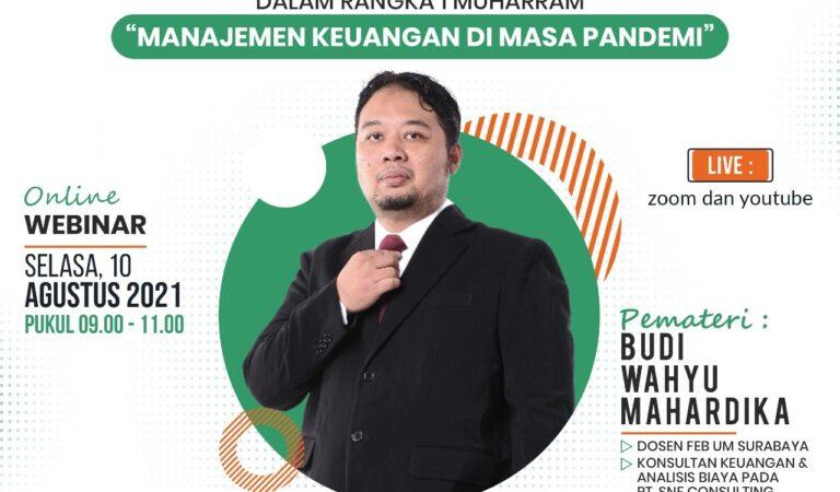 Sambut Tahun Baru Hijriyah, DSU Tuban Gelar Pelatihan Manajemen Keuangan di Masa Pandemi